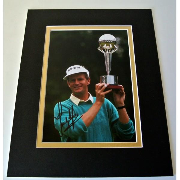 Sandy Lyle Signed Autograph 10x8 photo mount display Golf Memorabilia & COA