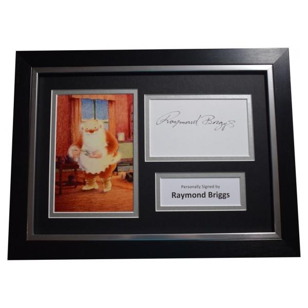 Raymond Briggs SIGNED A4 FRAMED Autograph Photo Display Father Christmas   AFTAL  COA Memorabilia PERFECT GIFT