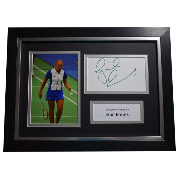 Gail Emms SIGNED A4 FRAMED Autograph Photo Display Olympics Badminton  AFTAL  COA Memorabilia PERFECT GIFT
