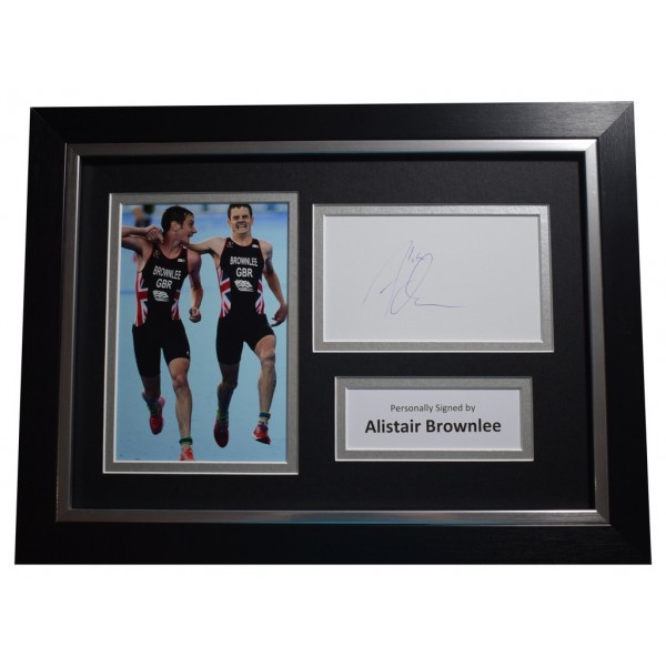 Alistair Brownlee SIGNED A4 FRAMED Autograph Photo Display Olympic Triathlon AFTAL  COA Memorabilia PERFECT GIFT