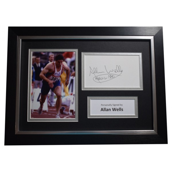 Allan Wells SIGNED A4 FRAMED Autograph Photo Display Olympic 100 metres   AFTAL  COA Memorabilia PERFECT GIFT