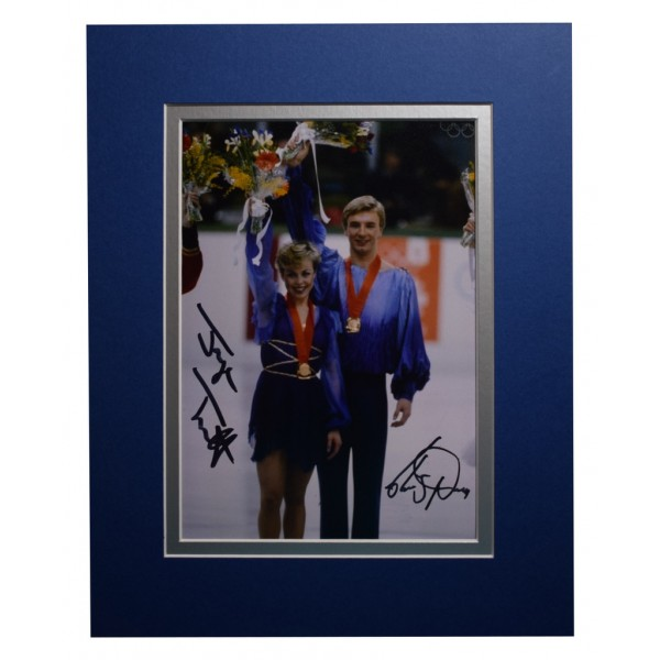Jayne Torvill & Christopher Dean Signed Autograph 10x8 photo Ice Skating  AFTAL  COA Memorabilia PERFECT GIFT