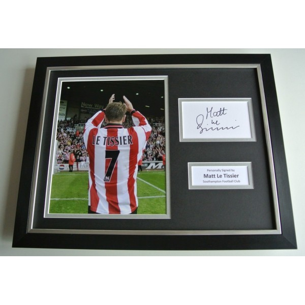 Matt le Tissier SIGNED FRAMED Photo Autograph 16x12 display Southampton COA & AFTAL Memorabilia PERFECT GIFT