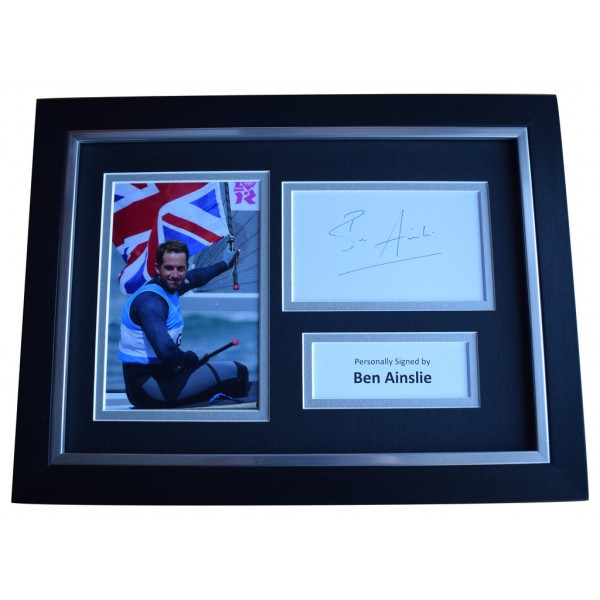 Ben Ainslie SIGNED A4 FRAMED Autograph Photo Display Olympics Sailing Sport  AFTAL  COA Memorabilia PERFECT GIFT