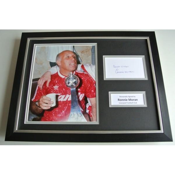 Ronnie Moran SIGNED FRAMED Photo Autograph 16x12 display Liverpool Football  COA & AFTAL Memorabilia PERFECT GIFT