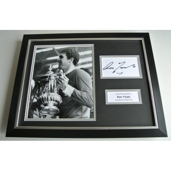 Ron Yeats SIGNED FRAMED Photo Autograph 16x12 display Liverpool Football COA & AFTAL Memorabilia PERFECT GIFT