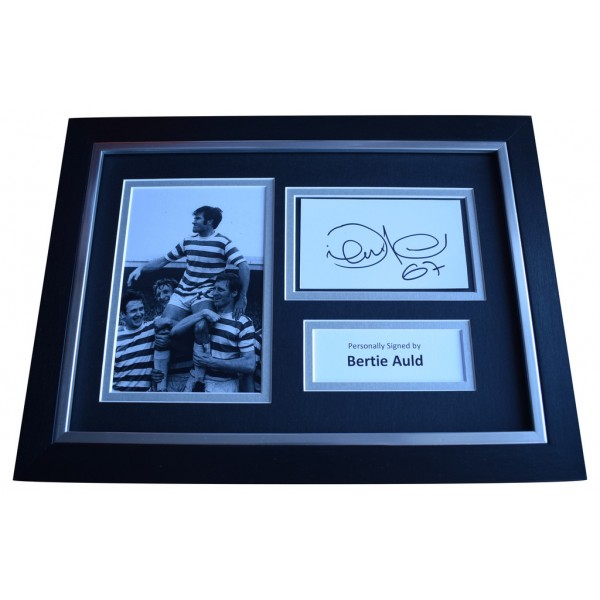 Bertie Auld SIGNED A4 FRAMED Autograph Photo Display Celtic Football  AFTAL  COA Memorabilia PERFECT GIFT