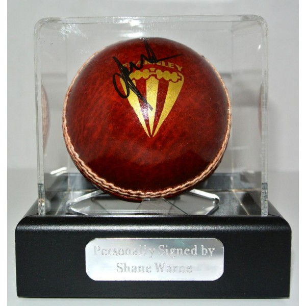 Shane Warne SIGNED autograph Cricket Ball Display Case PROOF GIFT Australia  AFTAL & COA Memorabilia