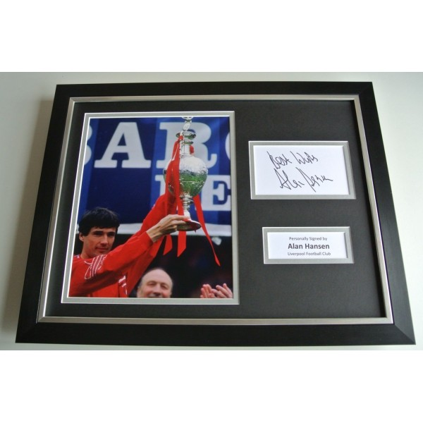 Alan Hansen SIGNED FRAMED Photo Autograph 16x12 display Liverpool Football COA & AFTAL Memorabilia PERFECT GIFT