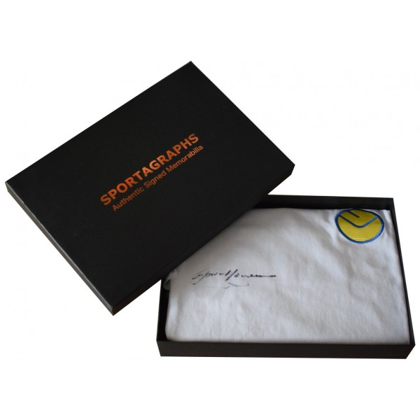 Gordon McQueen SIGNED Leeds United Shirt Autograph Gift Box New   AFTAL  COA Memorabilia PERFECT GIFT