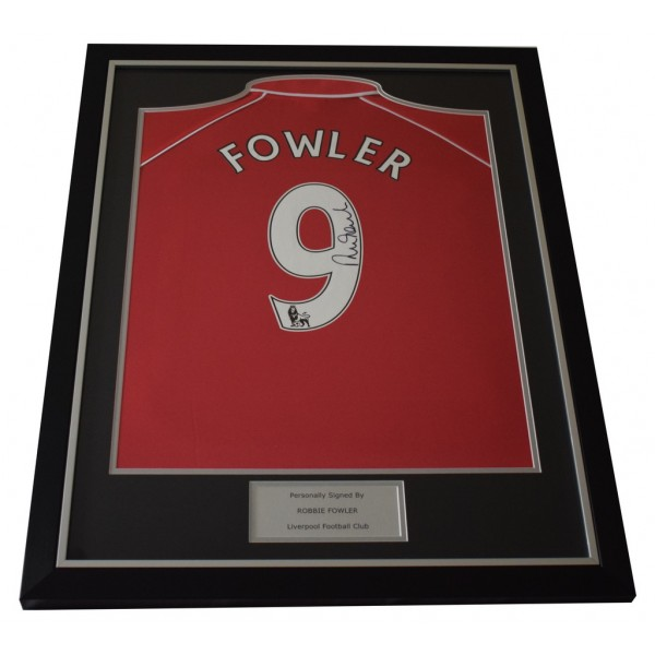 Robbie Fowler SIGNED FRAMED Shirt Photo Autograph Liverpool Football   AFTAL  COA Memorabilia PERFECT GIFT