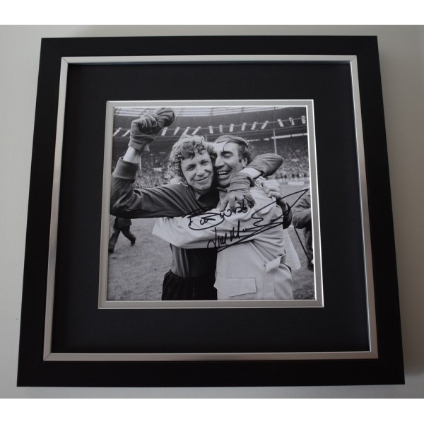 Jim Montgomery SIGNED Framed LARGE Square Photo Autograph display  AFTAL &  COA Memorabilia perfect gift