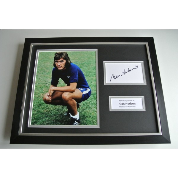 Alan Hudson SIGNED FRAMED Photo Autograph 16x12 display Chelsea Football COA & AFTAL Memorabilia PERFECT GIFT