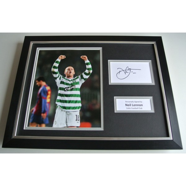 Neil Lennon SIGNED FRAMED Photo Autograph 16x12 display Celtic Football COA & AFTAL Memorabilia PERFECT GIFT
