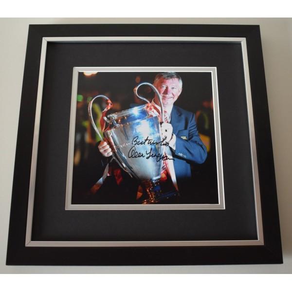 Alex Ferguson SIGNED Framed LARGE Square Photo Autograph display AFTAL &  COA Memorabilia PERFECT GIFT