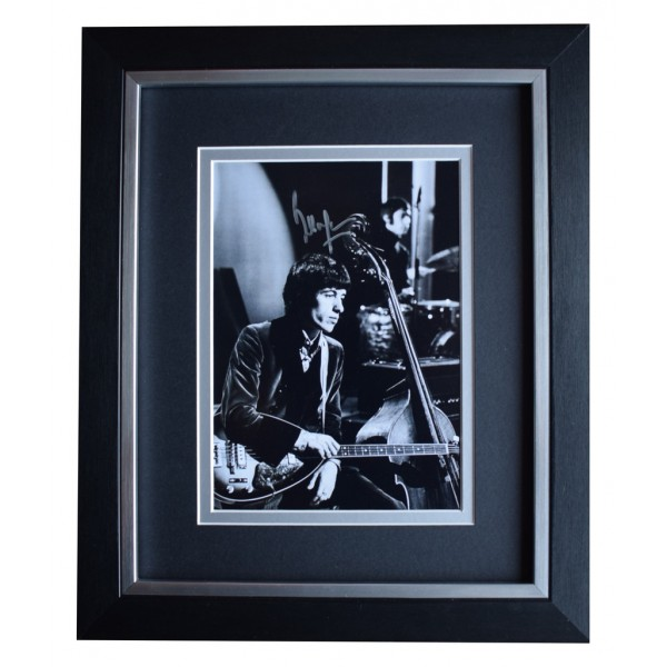 Bill Wyman SIGNED 10x8 FRAMED Photo Autograph Display Rolling Stones  AFTAL  COA Memorabilia PERFECT GIFT