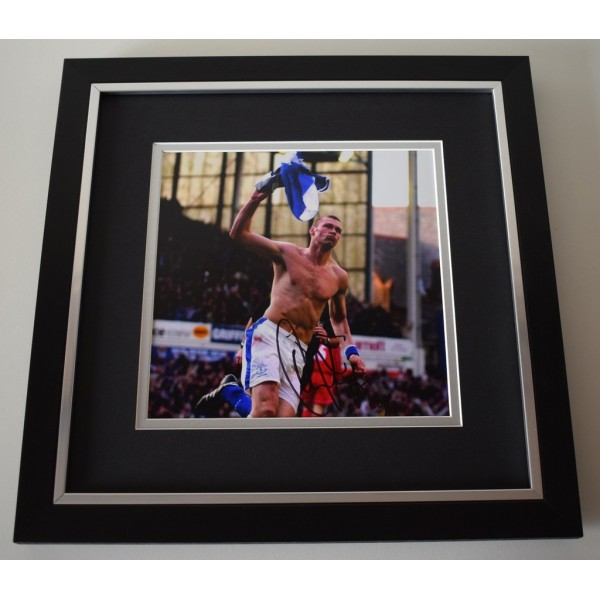Duncan Ferguson SIGNED Framed LARGE Square Photo Autograph display AFTAL &  COA Memorabilia PERFECT GIFT