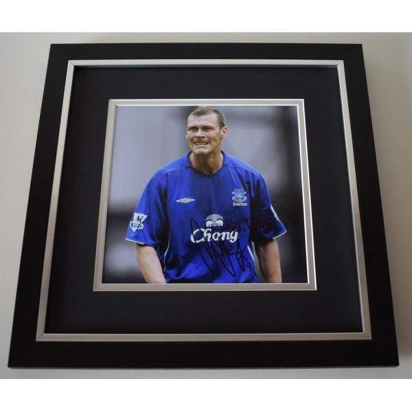Duncan Ferguson SIGNED Framed LARGE Square Photo Autograph display AFTAL &  COA Memorabilia PERFECT GIFT