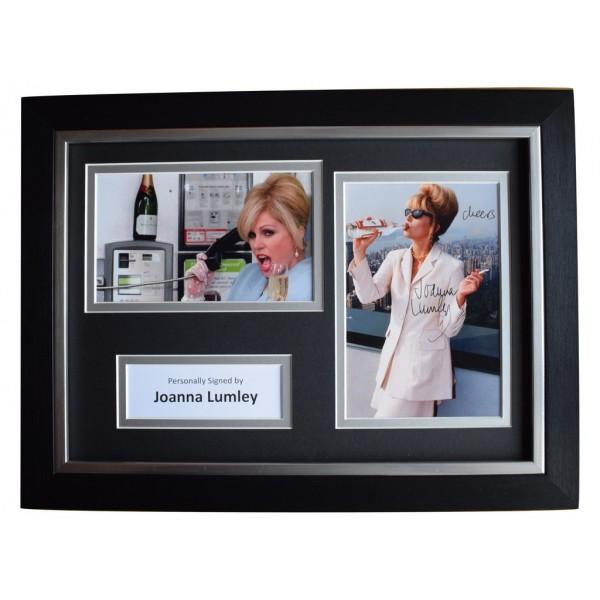 Joanna Lumley Signed A4 FRAMED Autograph Photo Display Ab Fab TV Film  AFTAL  COA Memorabilia PERFECT GIFT