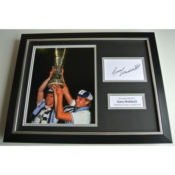 Gary Mabbutt SIGNED FRAMED Photo Autograph 16x12 display Tottenham Hotspur PROOF COA & AFTAL Memorabilia PERFECT GIFT