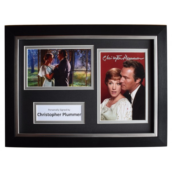 Christopher Plummer Signed A4 FRAMED Autograph Photo Display Sound Music Film   AFTAL  COA Memorabilia PERFECT GIFT