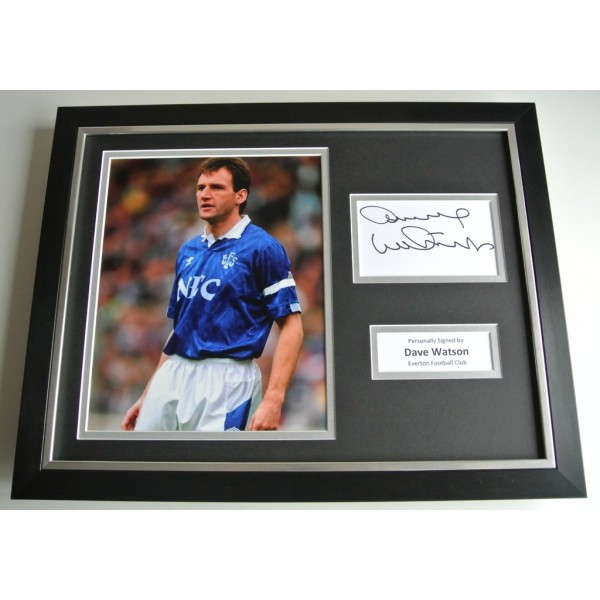 Dave Watson SIGNED FRAMED Photo Autograph 16x12 display Everton Football COA & AFTAL Memorabilia PERFECT GIFT