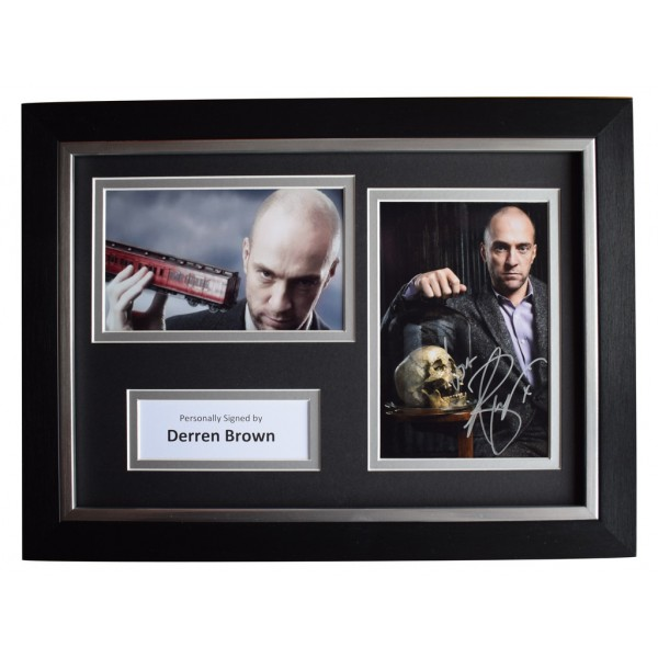 Derren Brown Signed A4 FRAMED Autograph Photo Display TV Underground Magic AFTAL  COA Memorabilia PERFECT GIFT