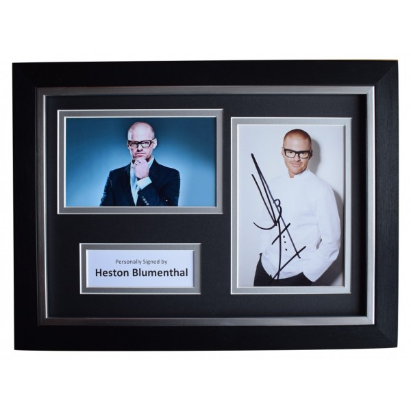 Heston Blumenthal Signed A4 FRAMED Autograph Photo Display TV Chef  AFTAL  COA Memorabilia PERFECT GIFT