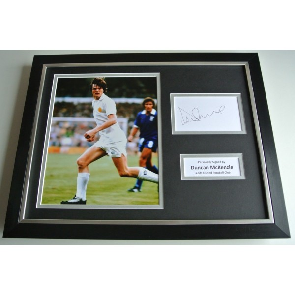 Duncan McKenzie SIGNED FRAMED Photo Autograph 16x12 display Leeds United COA & AFTAL Memorabilia PERFECT GIFT