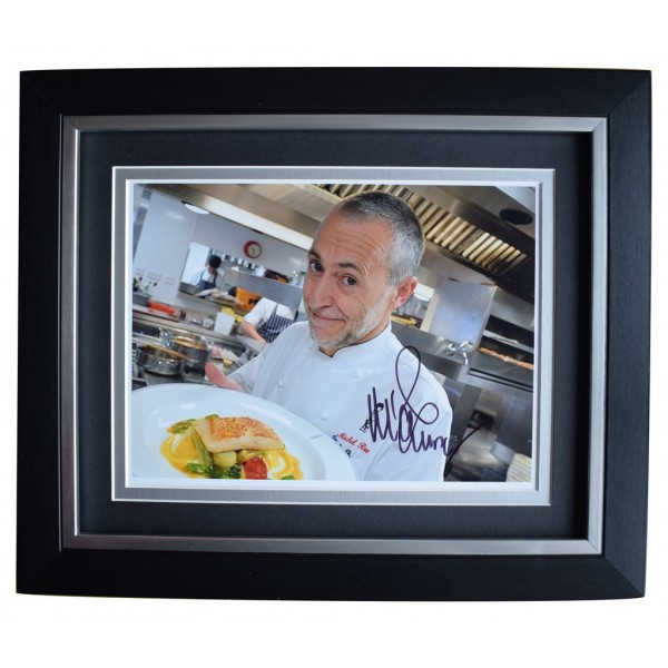 Michel Roux Jr SIGNED 10x8 FRAMED Photo Autograph Display TV Chef   AFTAL  COA Memorabilia PERFECT GIFT