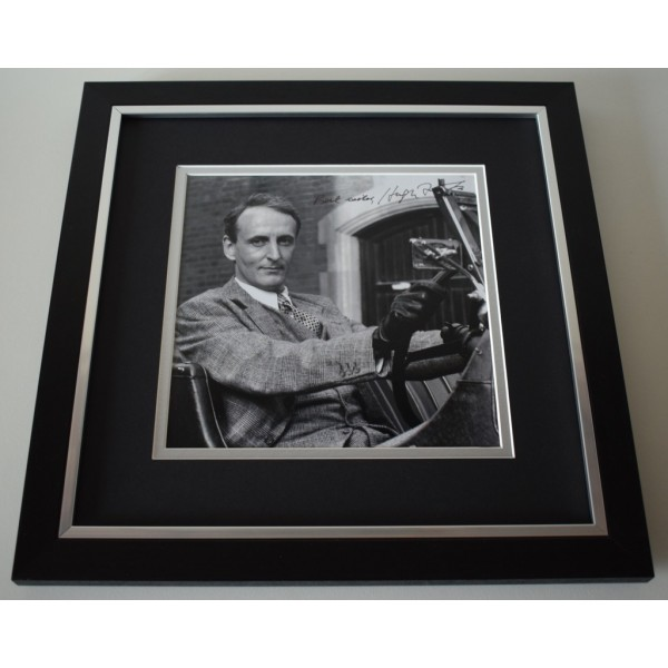 Hugh Fraser SIGNED Framed LARGE Square Photo Autograph display  AFTAL &  COA Memorabilia PERFECT GIFT