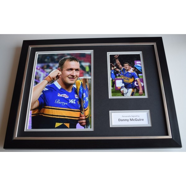 Danny McGuire SIGNED FRAMED Photo Autograph 16x12 display Leeds Rhinos Rugby COA AFTAL MEMORABILIA