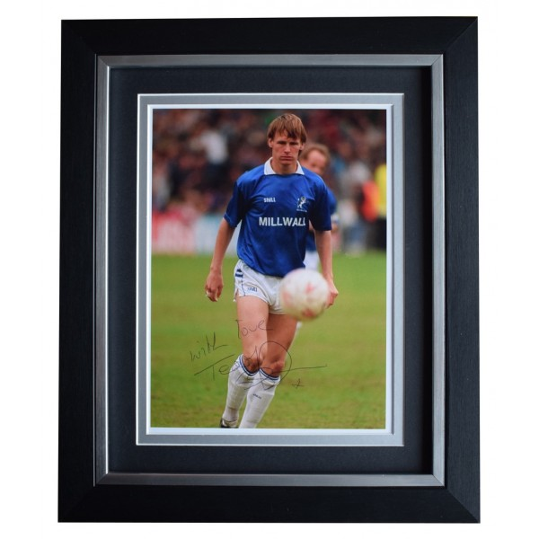 Teddy Sheringham SIGNED 10x8 FRAMED Photo Autograph Display Millwall AFTAL  COA Memorabilia PERFECT GIFT