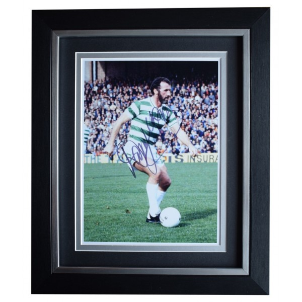 Danny McGrain SIGNED 10x8 FRAMED Photo Autograph Display Celtic Football AFTAL  COA Memorabilia PERFECT GIFT