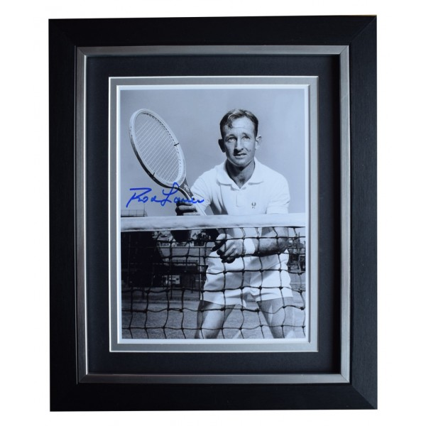Rod Laver SIGNED 10x8 FRAMED Photo Autograph Display Tennis Sport  AFTAL  COA Memorabilia PERFECT GIFT