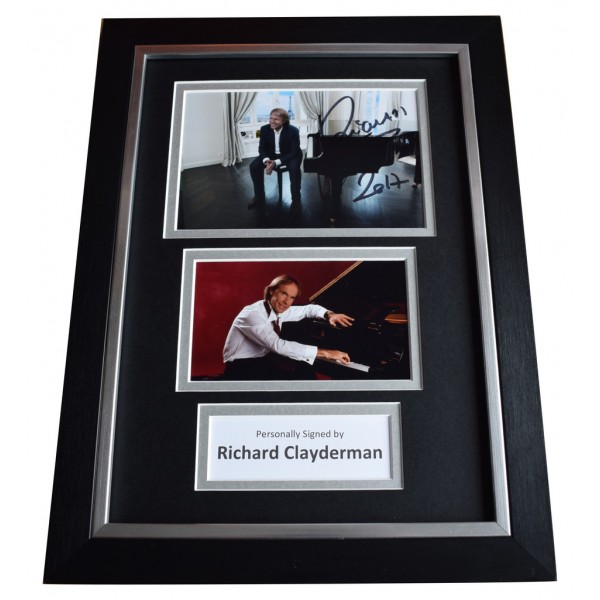 Richard Clayderman Signed A4 FRAMED Autograph Photo Display Piano Music  AFTAL  COA Memorabilia PERFECT GIFT