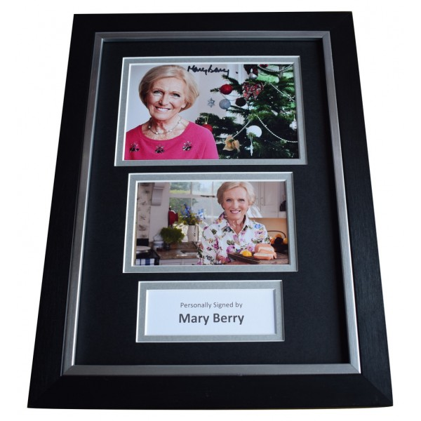 Mary Berry Signed A4 FRAMED Autograph Photo Display Bake Off TV Chef AFTAL  COA Memorabilia PERFECT GIFT