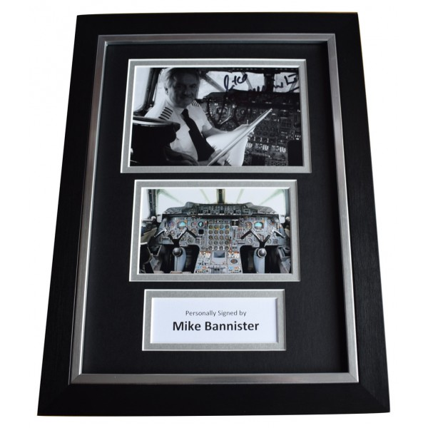 Mike Bannister Signed A4 FRAMED Autograph Photo Display Concorde Pilot AFTAL  COA Memorabilia PERFECT GIFT