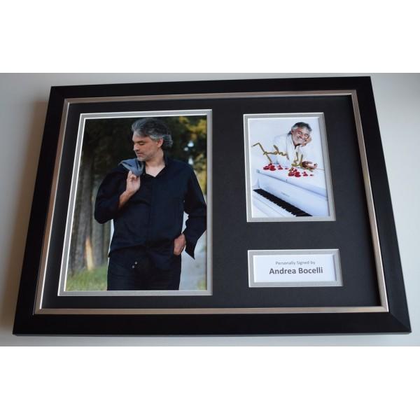 Andrea Bocelli SIGNED FRAMED Photo Autograph 16x12 display Opera Music AFTAL Memorabilia COA