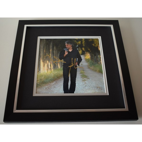 Andrea Bocelli SIGNED Framed LARGE Square Photo Autograph display  AFTAL &  COA Memorabilia perfect gift