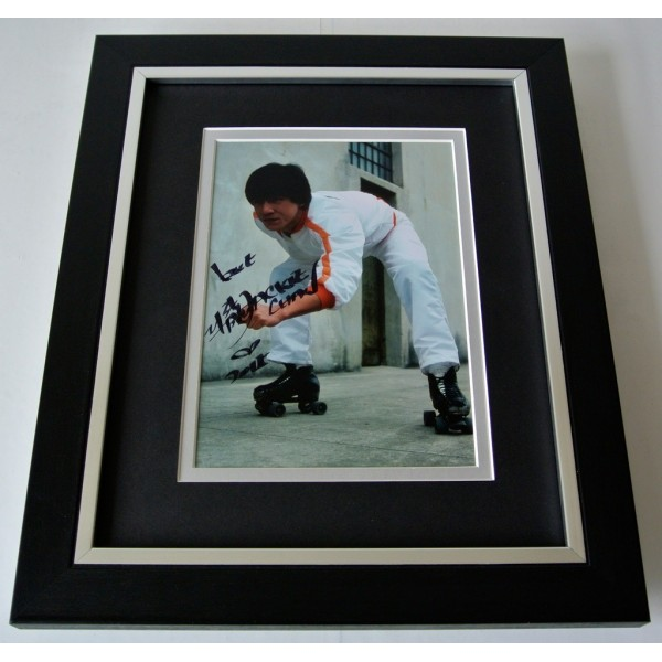 Jackie Chan SIGNED 10X8 FRAMED Photo Autograph Display Karate martial Arts & COA PERFECT GIFT