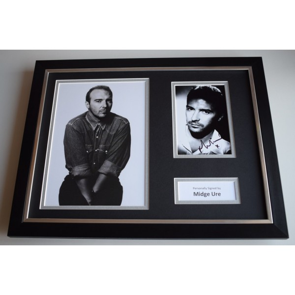 Midge Ure SIGNED FRAMED Photo Autograph 16x12 display Ultravox Music AFTAL COA MEMORABILIA