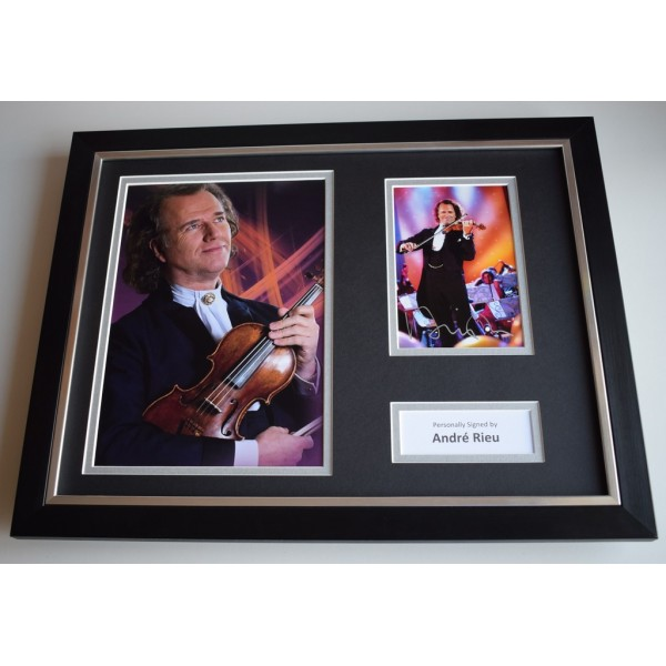 Andre Rieu SIGNED FRAMED Photo Autograph 16x12 display Violin Music AFTAL Memorabilia COA
