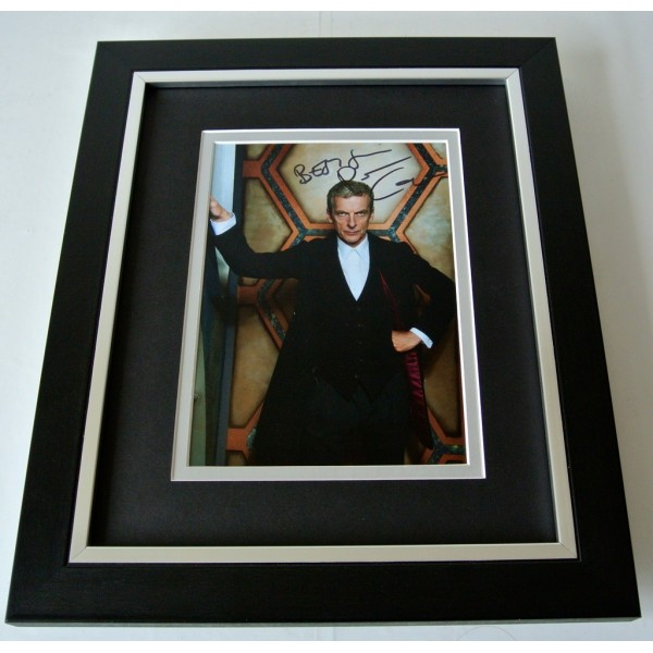 Peter Capaldi SIGNED 10X8 FRAMED Photo Autograph Display TV Doctor Who & COA  PERFECT GIFT