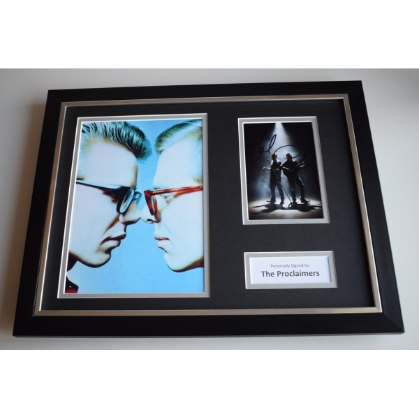The Proclaimers SIGNED FRAMED Photo Autograph 16x12 display Music AFTAL & COA MEMORABILIA