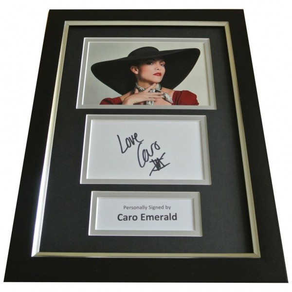 Caro Emerald Signed A4 FRAMED Photo Autograph Display Music Memorabilia & COA PERFECT GIFT