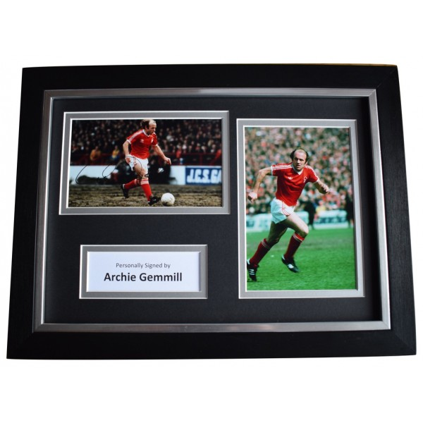 Archie Gemmill Signed A4 FRAMED Autograph Photo Display Nottingham Forest  AFTAL  COA Memorabilia PERFECT GIFT