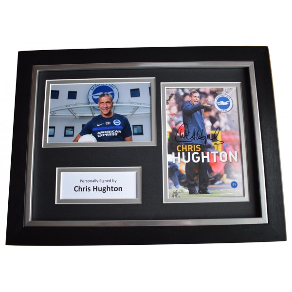 Chris Hughton Signed A4 FRAMED Autograph Photo Display Brighton  AFTAL  COA Memorabilia PERFECT GIFT