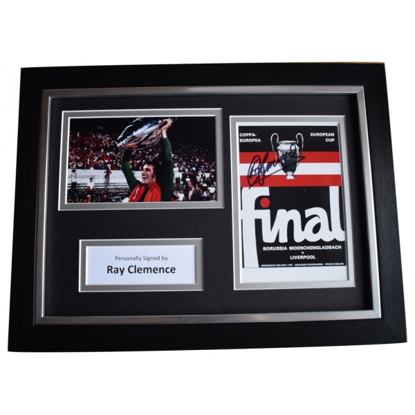 Ray Clemence Signed A4 FRAMED Autograph Photo Display Liverpool    AFTAL  COA Memorabilia PERFECT GIFT