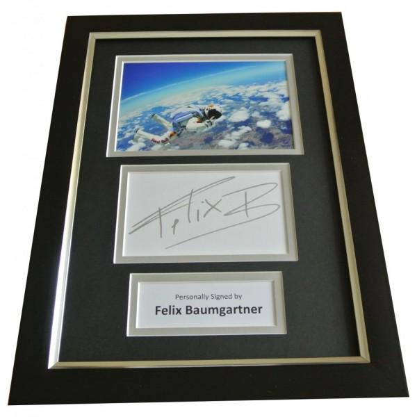 Felix Baumgartner Signed A4 FRAMED Photo Mount Autograph Display Red Bull & COA PERFECT GIFT